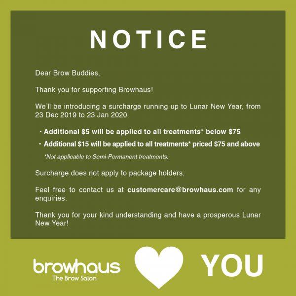 Browhaus Notice